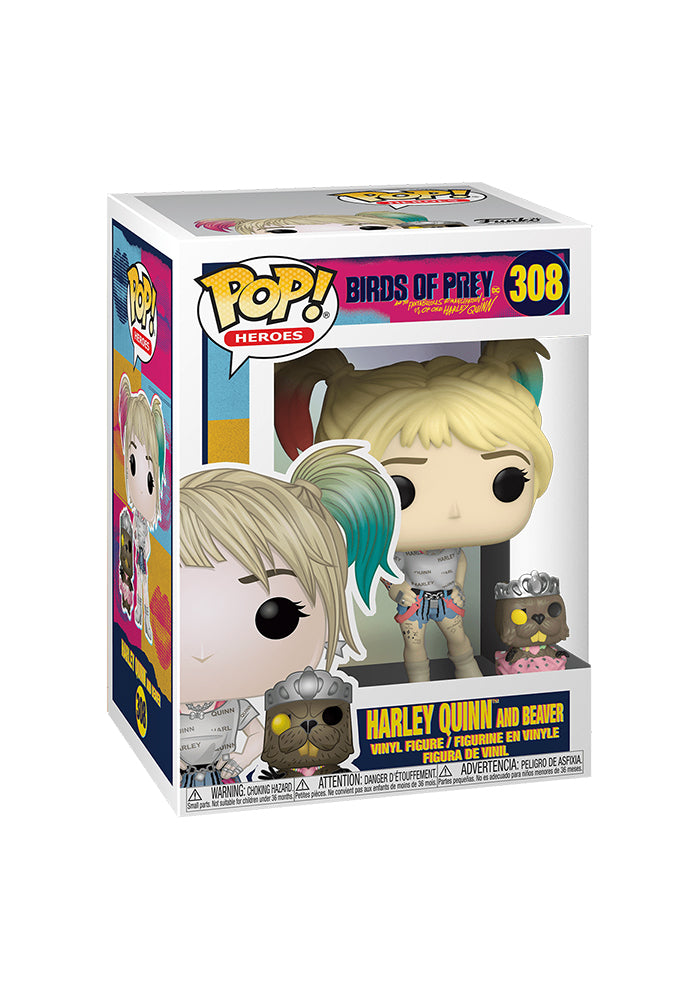 Birds Of Prey Funko Pop Heroes Birds Of Prey Harley Quinn Beaver Newbury Comics