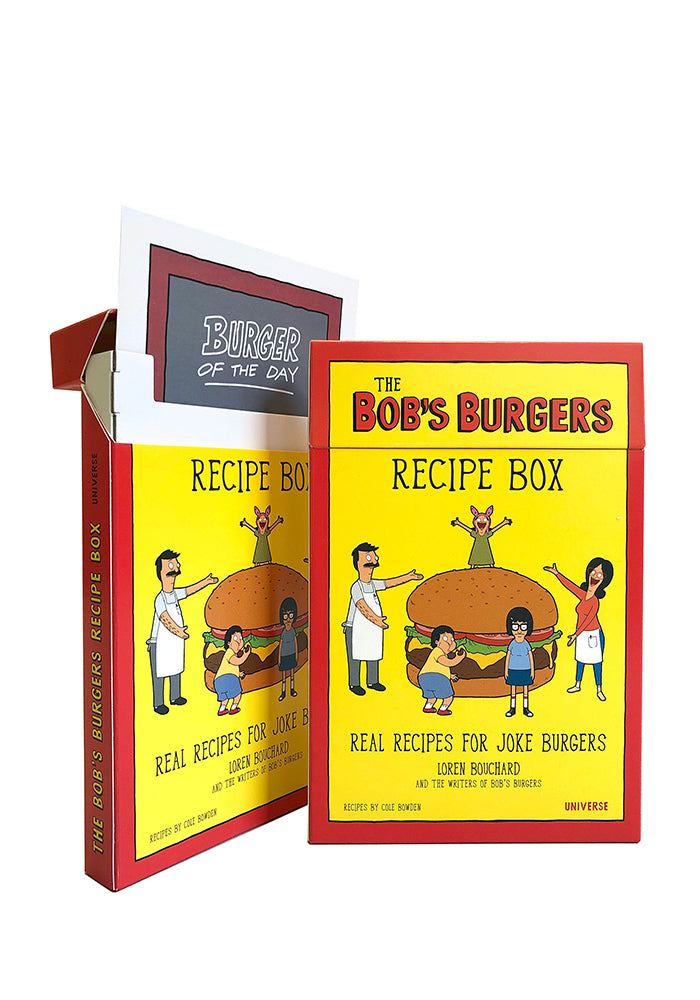 BOB'S BURGERS The Bob's Burgers Recipe Box: Real Recipes For Joke Burgers