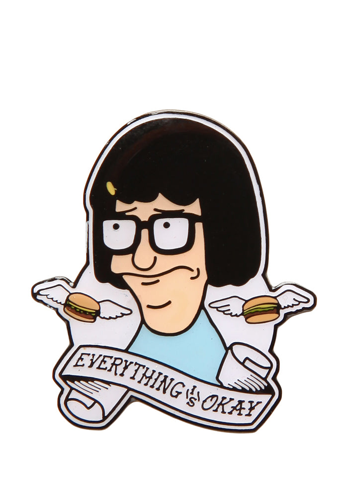 BOB'S BURGERS Tina Belcher Everything Is Okay Enamel Pin