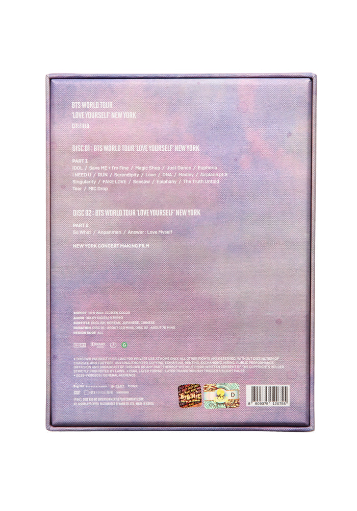 BTS BTS World Tour: Love Yourself - New York DVD Box
