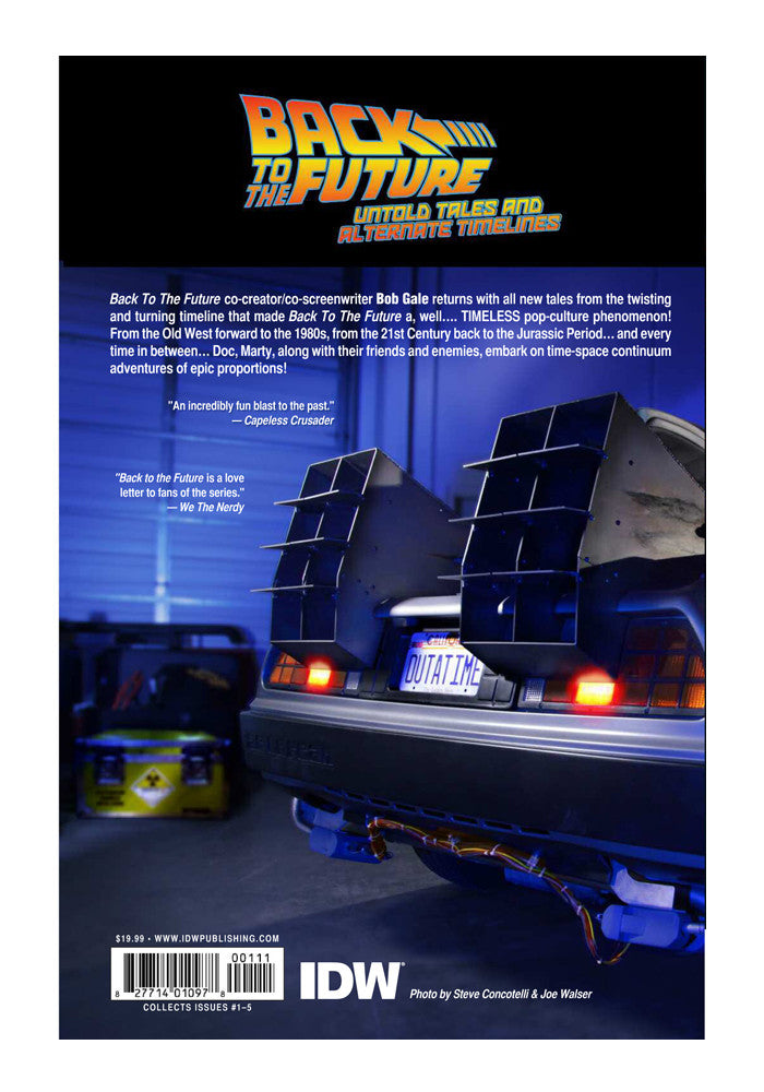 IDW Back To The Future: Untold Tales And Alternate Timelines Graphic Novel