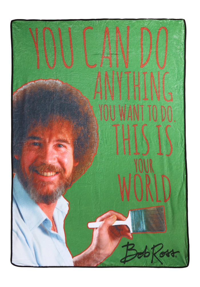BOB ROSS You Can Do Anything You Want To Do Fleece Blanket