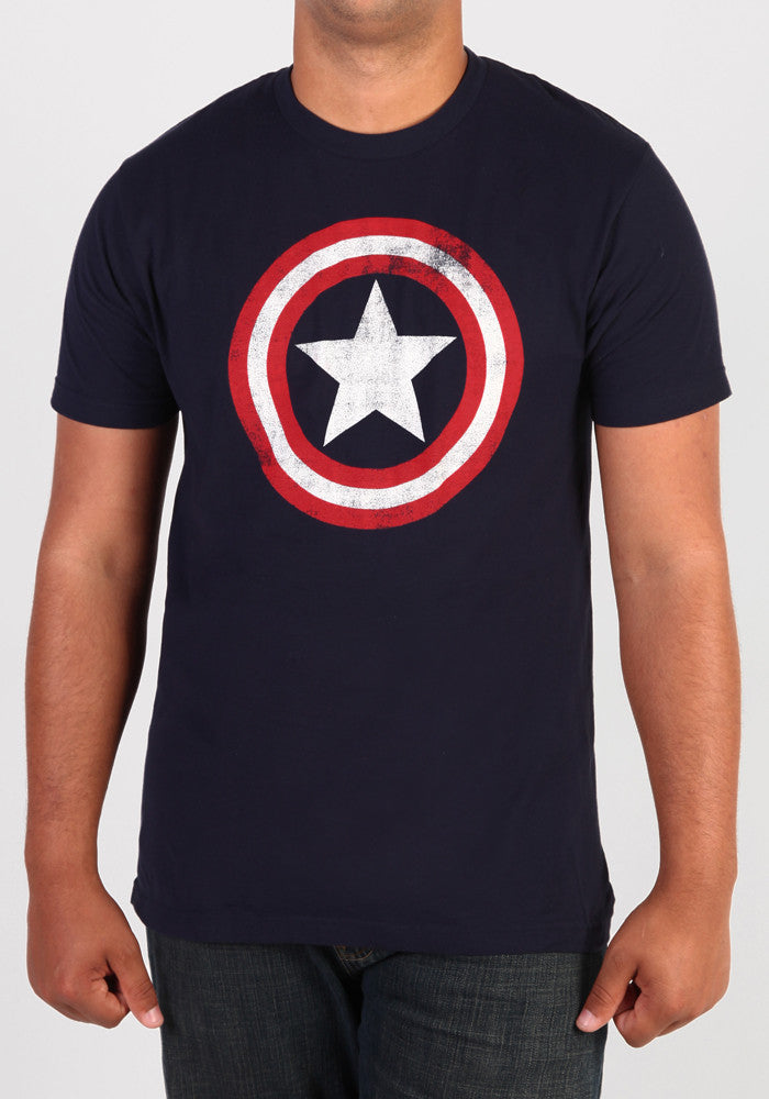 CAPTAIN AMERICA Captain America Distressed Shield T-Shirt