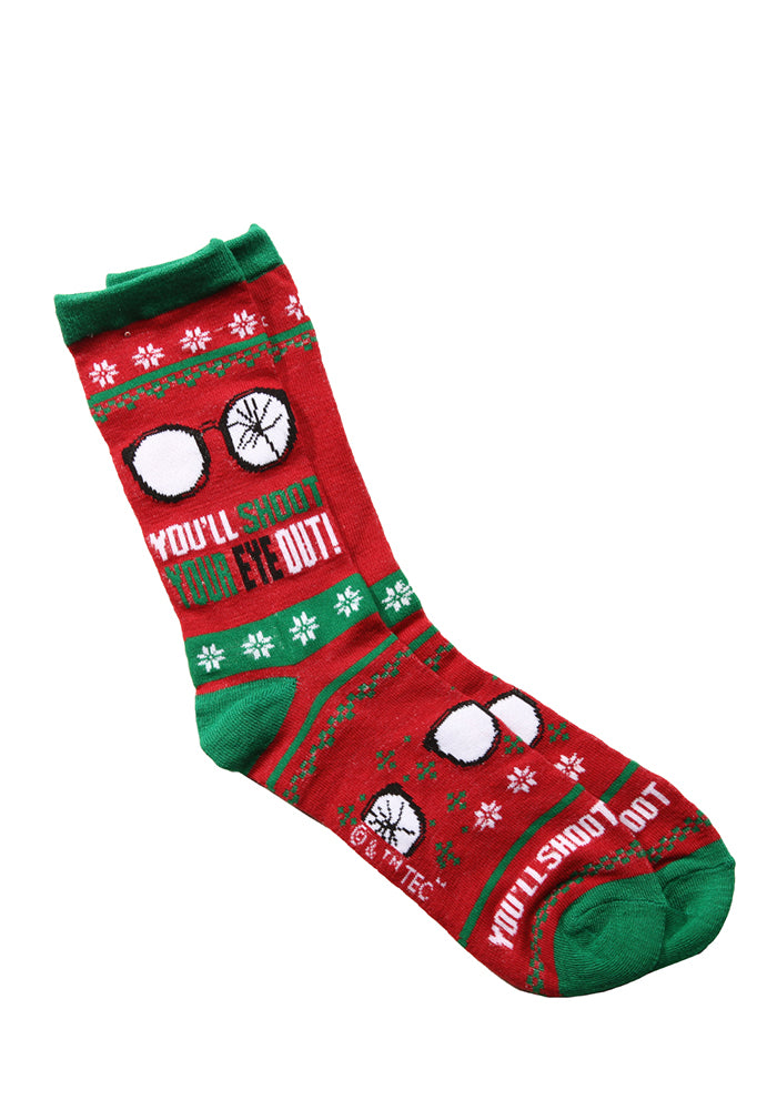 CHRISTMAS STORY You'll Shoot Your Eye Out Holiday Sweater Socks