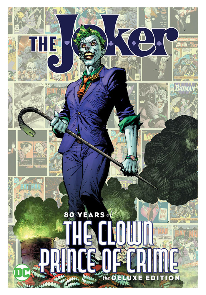 DC COMICS The Joker: 80 Years of the Clown Prince of Crime Deluxe Edition Hardcover Graphic Novel