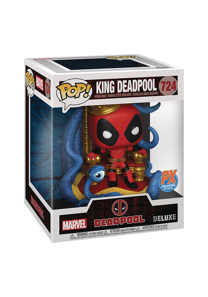 DEADPOOL Funko Pop! Marvel: Deadpool Deluxe - King Deadpool On Throne