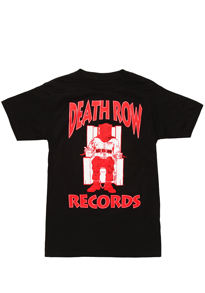 DEATH ROW RECORDS Electric Chair Logo Red On Black T-Shirt