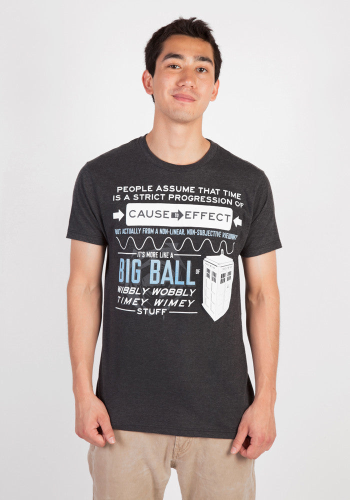 DOCTOR WHO Doctor Who Wibbly Wobbly Quote T-Shirt