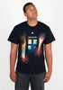 DOCTOR WHO Tardis Silhouette in Space T-Shirt
