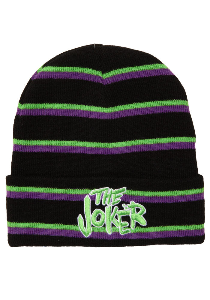DC COMICS Joker Striped Beanie Blk/Grn/Prp