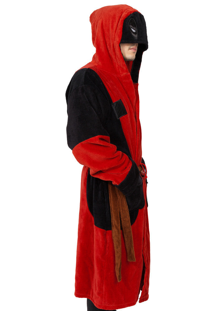 DEADPOOL Deadpool Deluxe Adult Hooded Terry Bath Robe