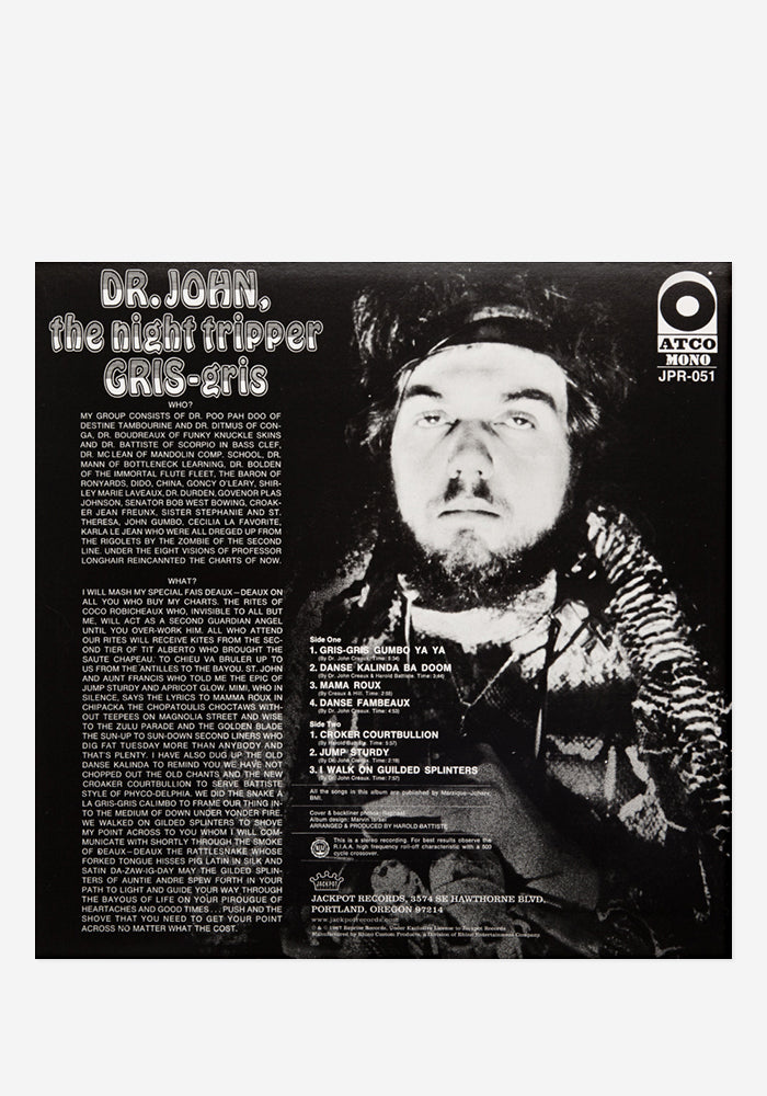 DR. JOHN Gris-Gris Exclusive LP