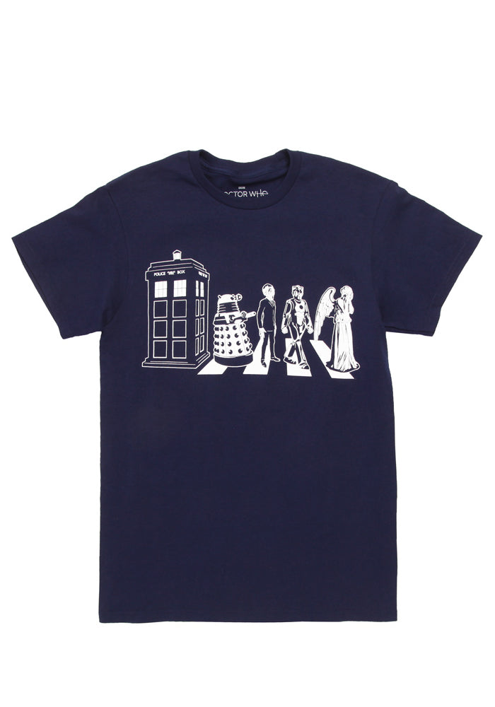 DOCTOR WHO TARDIS Street Crossing T-Shirt - Navy