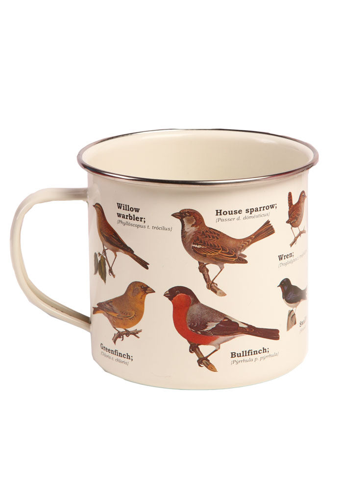 WICKED FUN MUGS Ecologie: Hortus Aves Enamel Mug