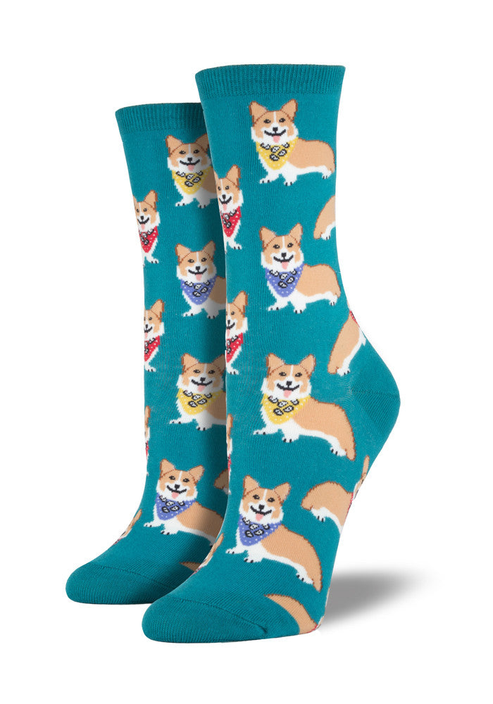 SOCKSMITH Smiling Corgi With Bandana Socks