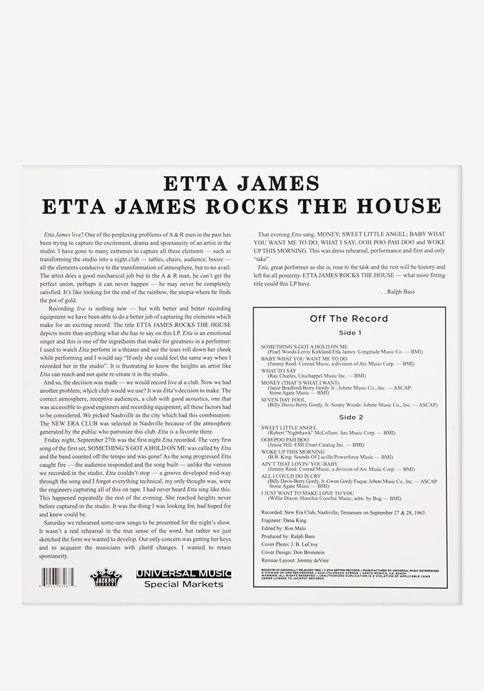 ETTA JAMES Etta James Rocks The House Exclusive LP