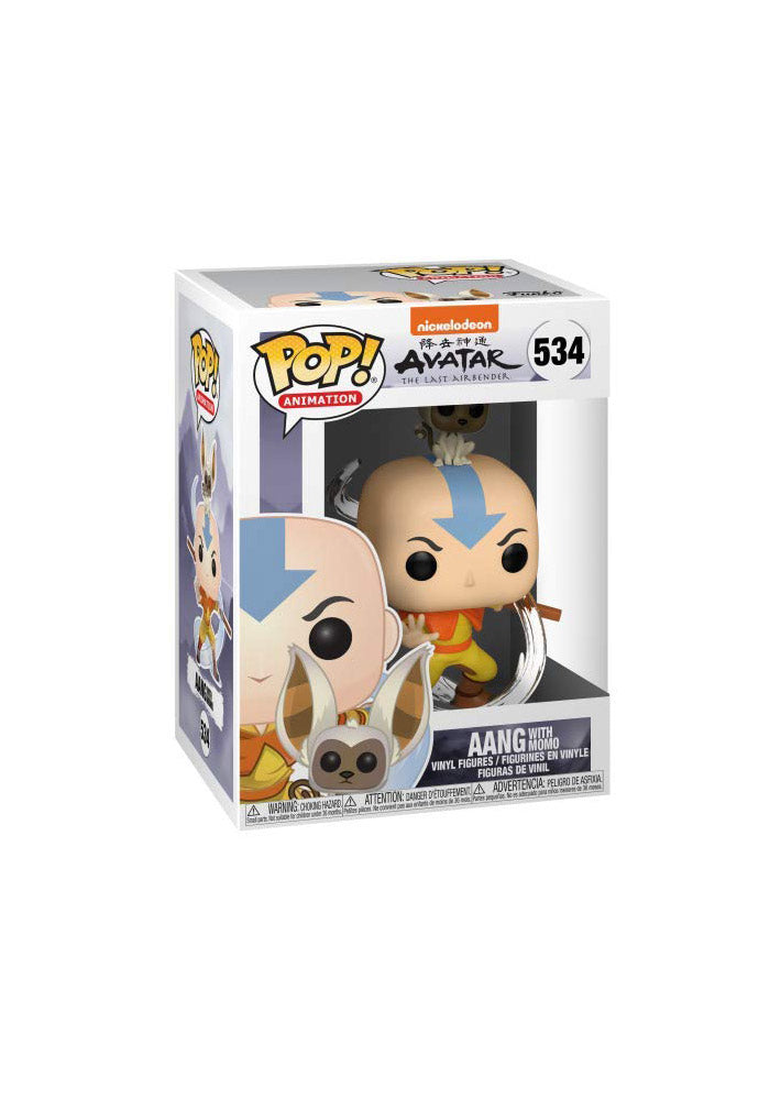 AVATAR Funko Pop! Animation: Avatar The Last Airbender - Aang With Momo