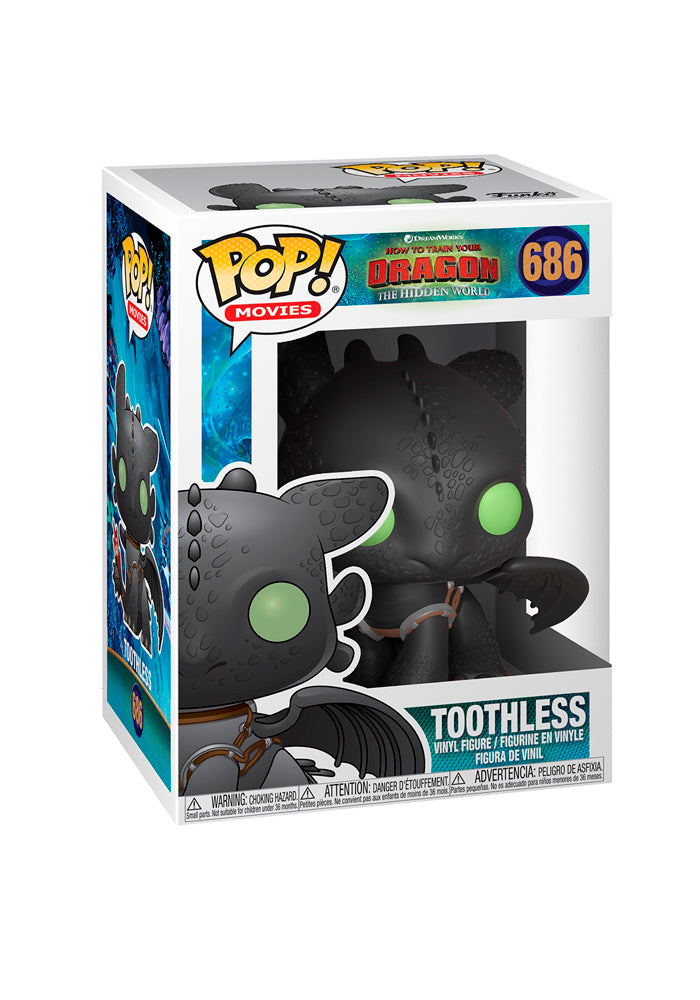 HOW TO TRAIN YOUR DRAGON Funko Pop! Movies: How To Train Your Dragon 3 - Toothless