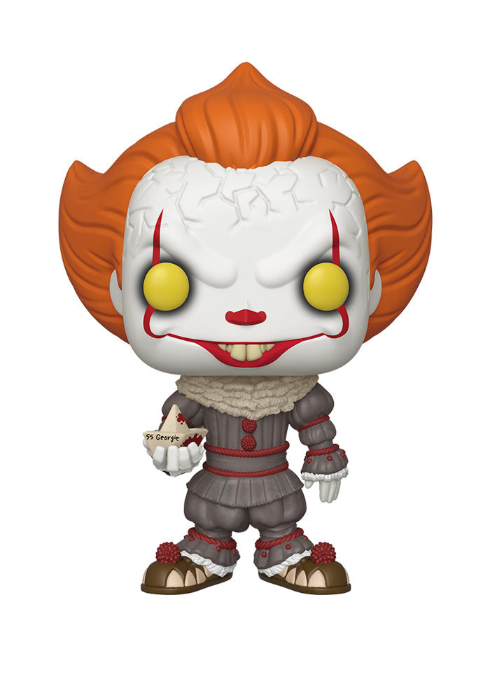"IT Funko Pop! Movies: It - 10"" Pennywise With Boat"