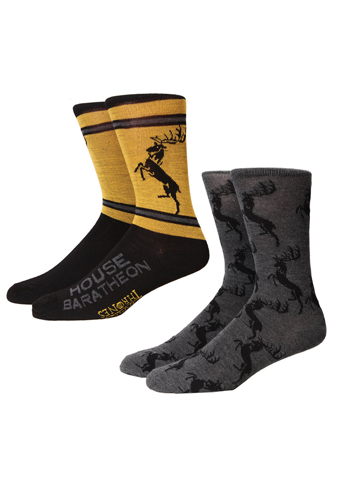 GAME OF THRONES House Baratheon Sigil Socks 2-Pack