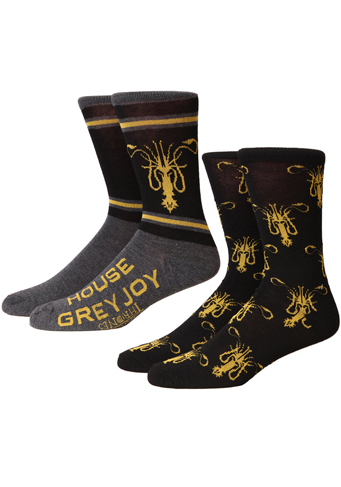 GAME OF THRONES House Greyjoy Sigil Socks 2-Pack