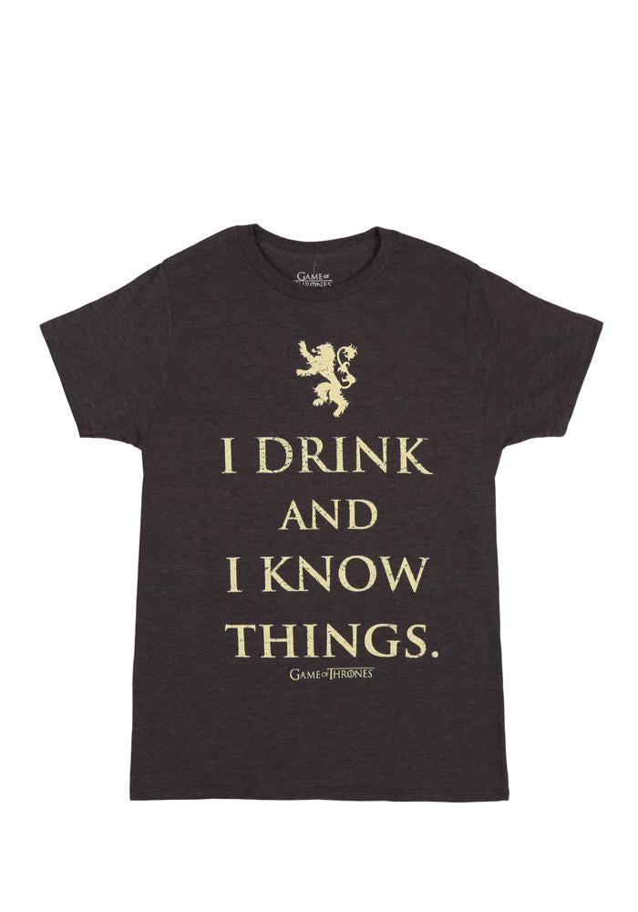 GAME OF THRONES I Drink And I Know Things Lannister T-Shirt