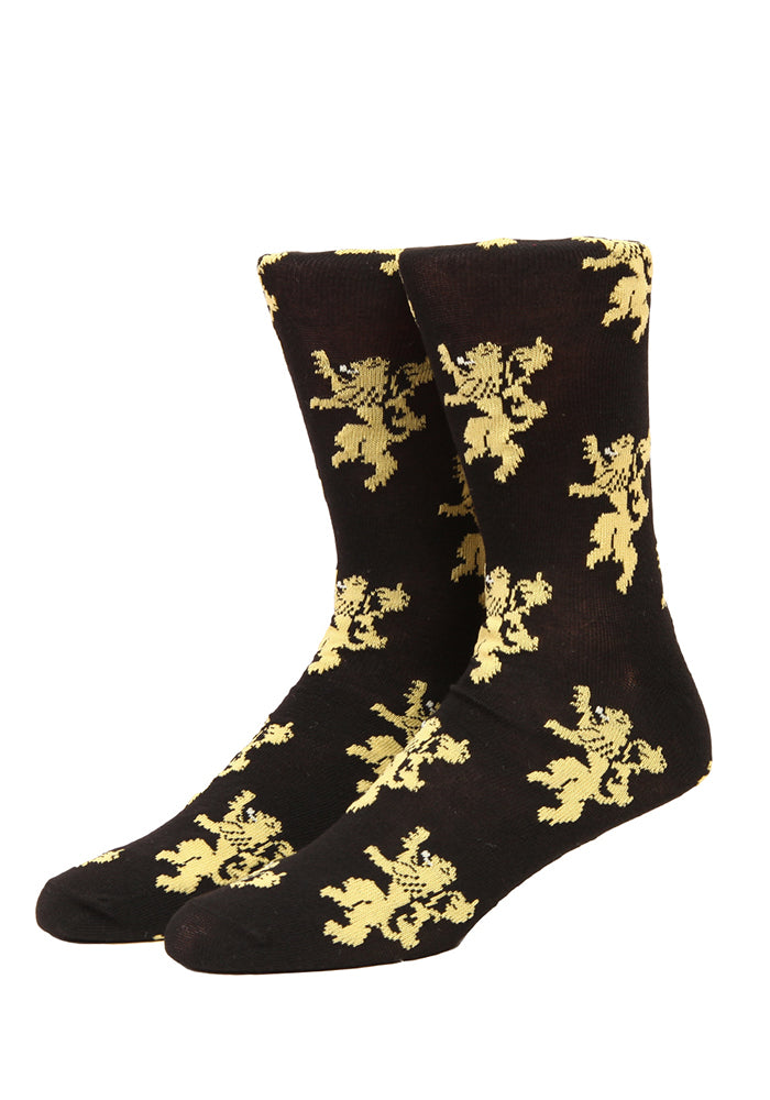 GAME OF THRONES Lannister Lion Sigils Socks