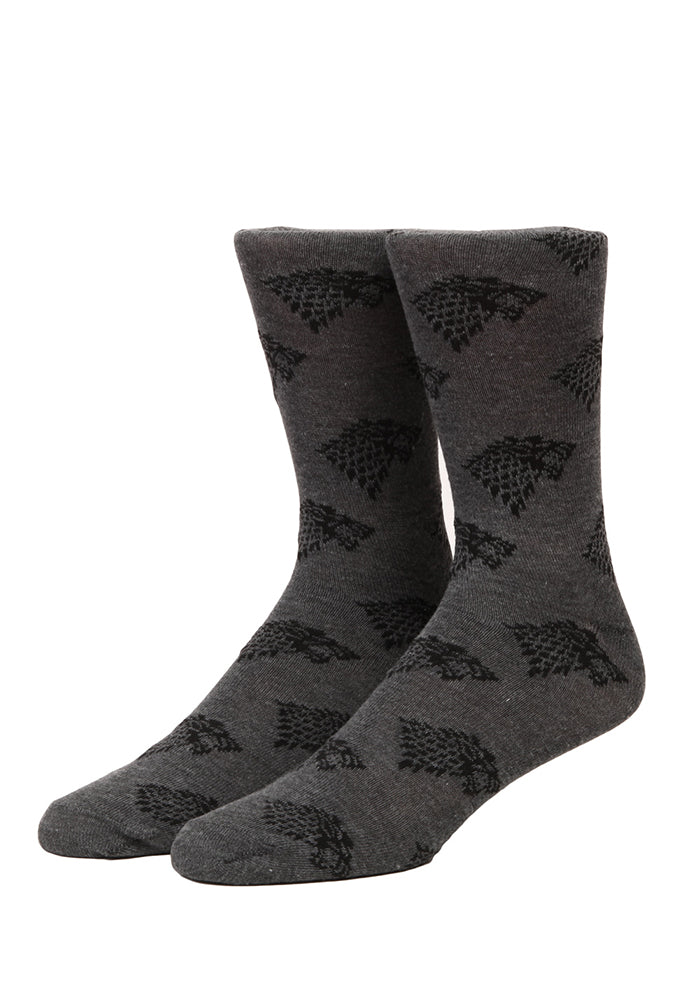 GAME OF THRONES Stark Direwolf Sigils Socks