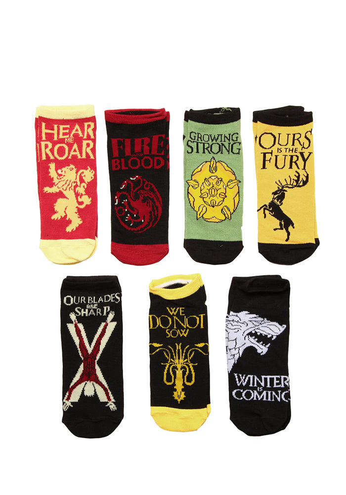 GAME OF THRONES Westeros Noble Houses Ankle Socks - 7-Pack