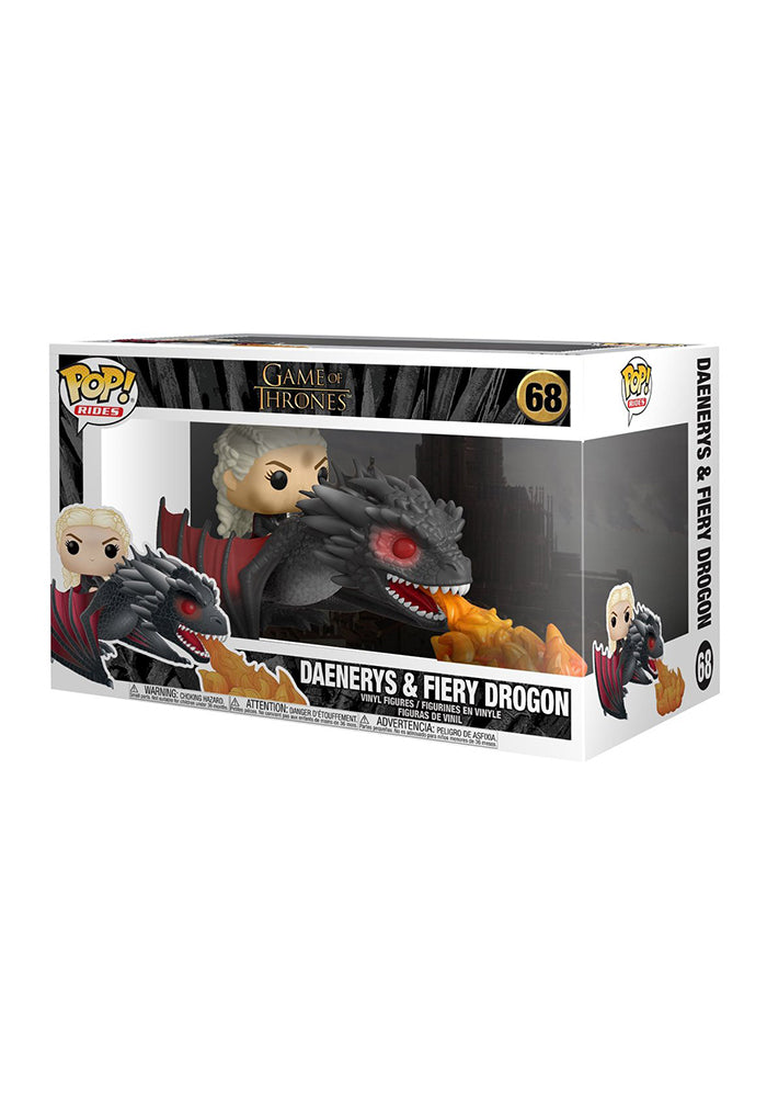 GAME OF THRONES Funko Pop! TV: Game Of Thrones Deluxe - Daenerys & Fiery Drogon