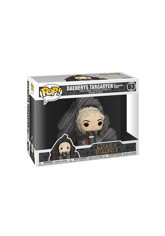 GAME OF THRONES Funko Pop! TV: Game Of Thrones Deluxe - Daenerys On Dragonstone Throne