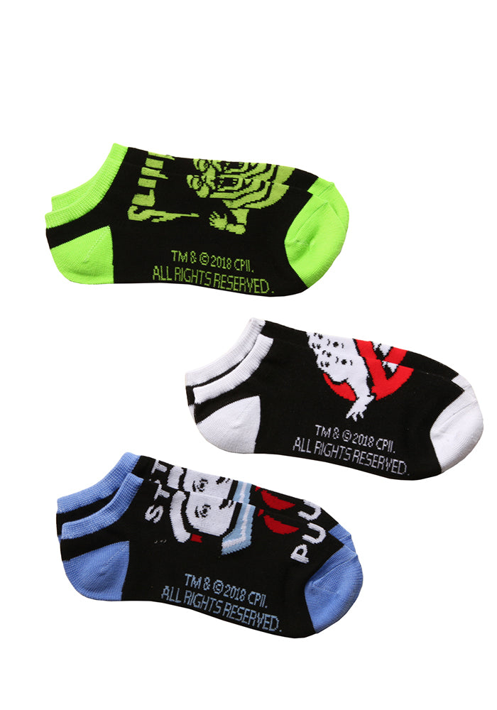 GHOSTBUSTERS Ghostbusters Slimer Stay Puft No Show Socks - 3-Pack
