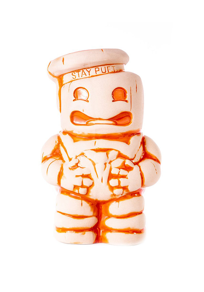 GHOSTBUSTERS Stay Puft Marshmallow Man 32oz Tiki Mug - Crossing The Streams White & Orange