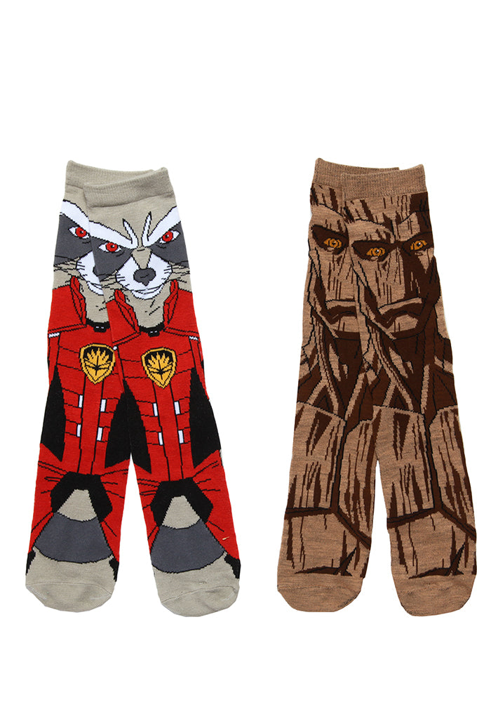 GUARDIANS OF GALAXY Groot & Rocket Socks 2-Pack