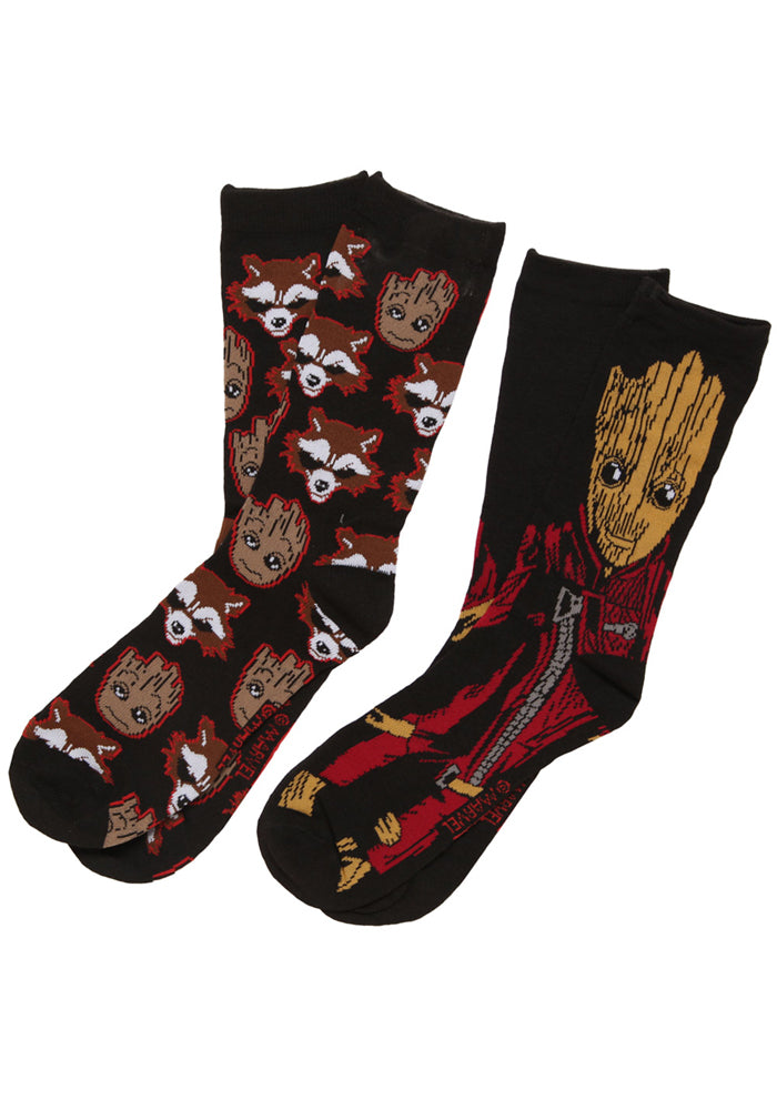 GUARDIANS OF THE GALAXY Baby Groot & Rocket Crew Socks 2-Pack