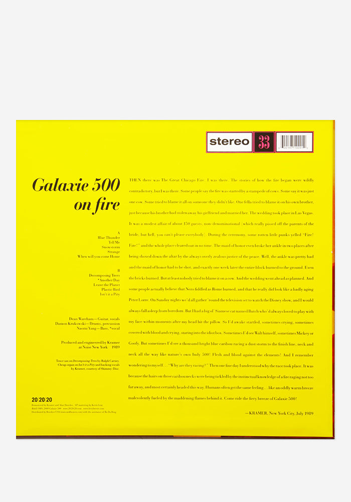 GALAXIE 500 On Fire Exclusive LP