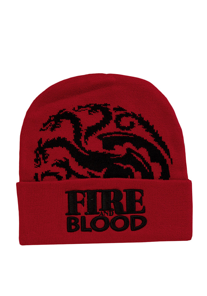 GAME OF THRONES GOT Fire & Blood: Targaryn Beanie
