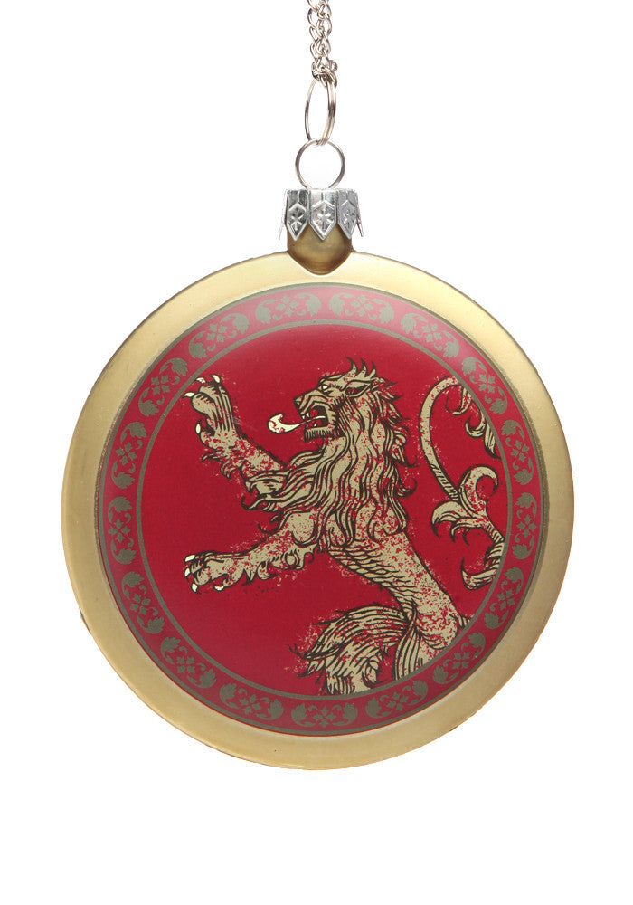 GAME OF THRONES House Lannister Disc Ornament