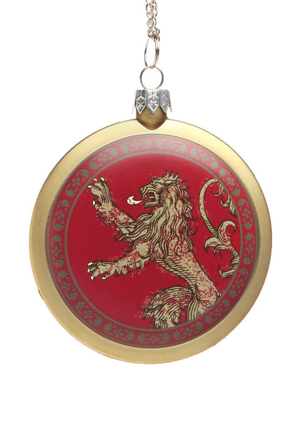 Game Of Thrones House Lannister Disc Ornament Newbury Comics