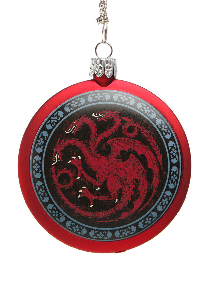 GAME OF THRONES House Targaryen Disc Ornament
