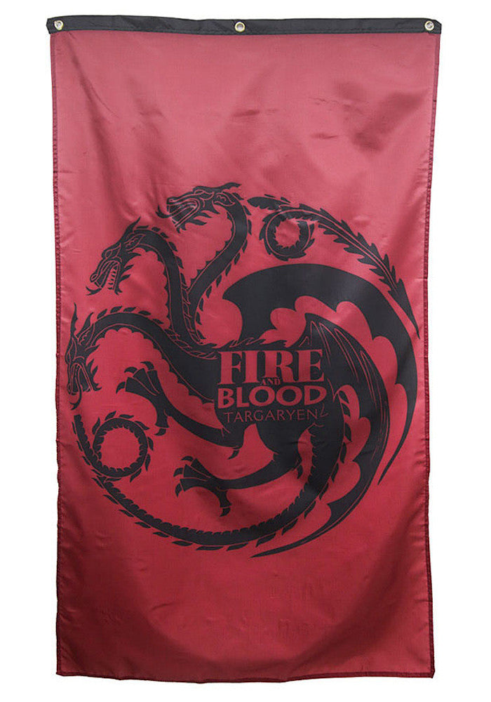 GAME OF THRONES House Targaryen Fire And Blood Banner