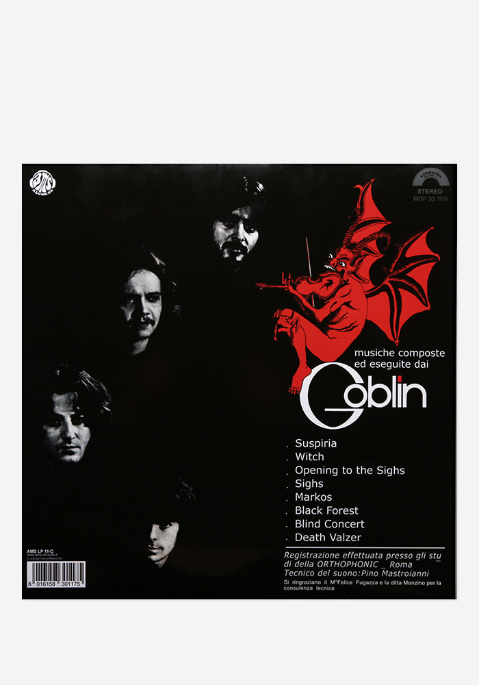 GOBLIN Soundtrack - Suspiria Exclusive LP