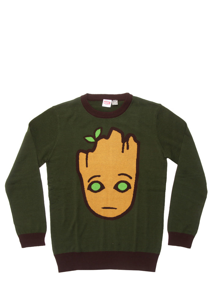 GUARDIANS OF THE GALAXY Groot Face Crewneck Sweater