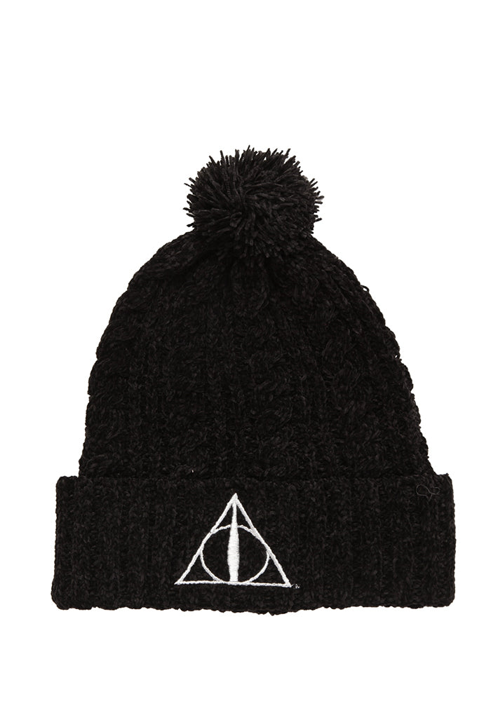 HARRY POTTER Deathly Hallows Metallic Symbol Slouch Pom Beanie