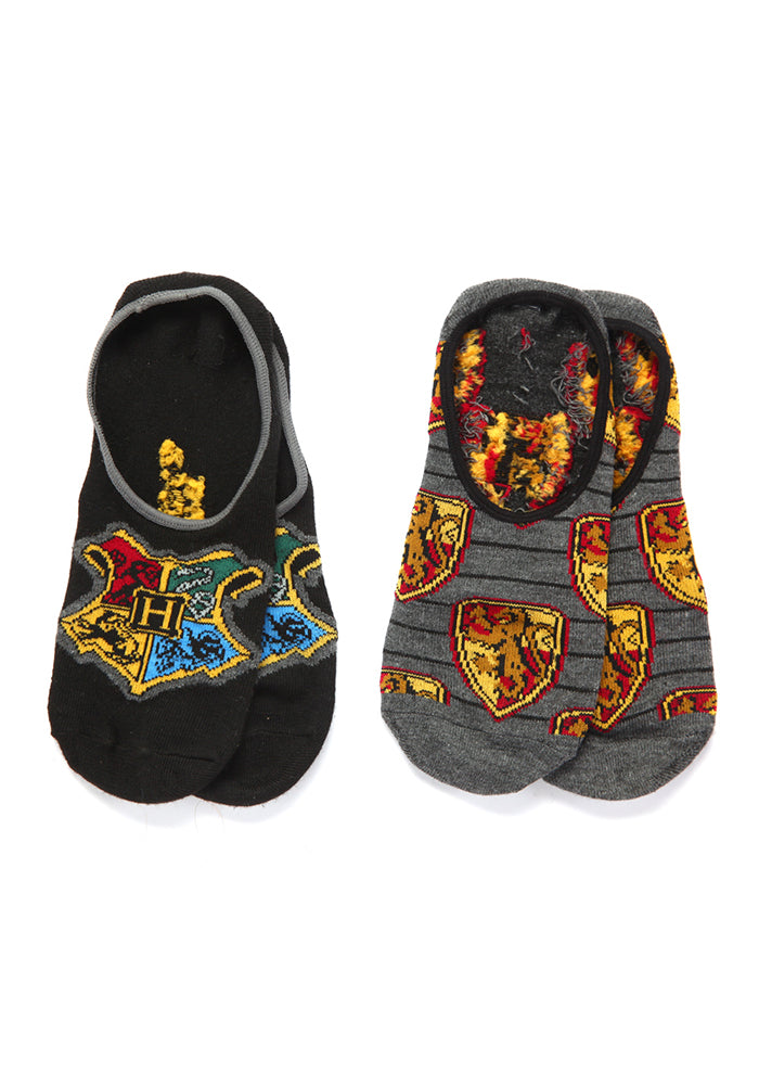 HARRY POTTER Hogwarts & Gryffindor Ped Socks 2-Pack