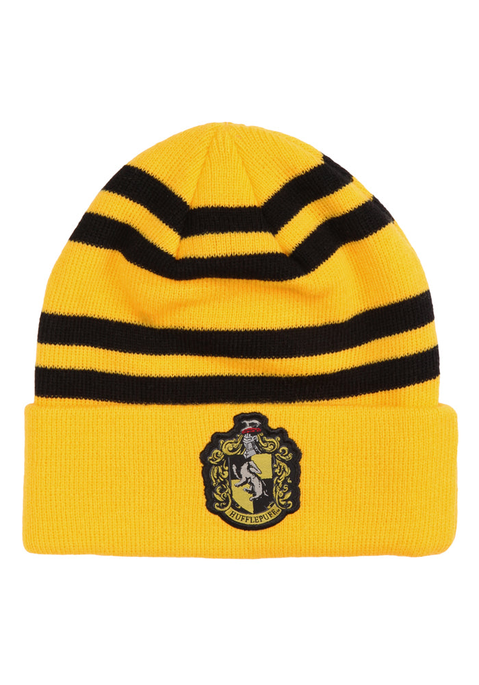 HARRY POTTER Hufflepuff Crest Striped Beanie