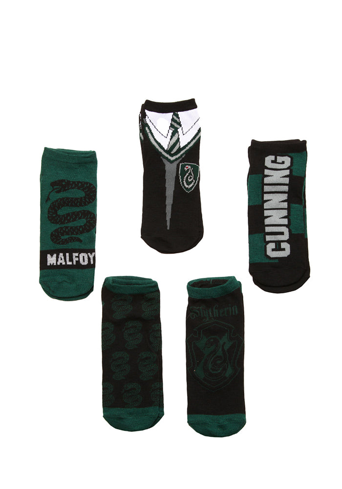 HARRY POTTER Slytherin House Student Ankle Socks - 5-Pack