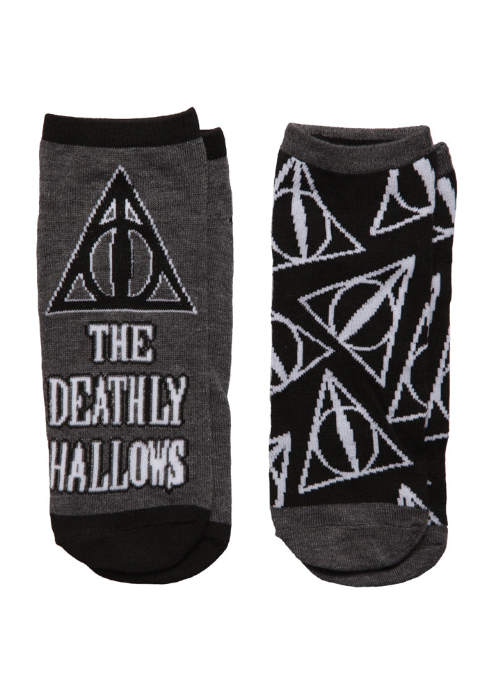 HARRY POTTER Deathly Hallows Sign Women's Ankle Socks 2-Pack