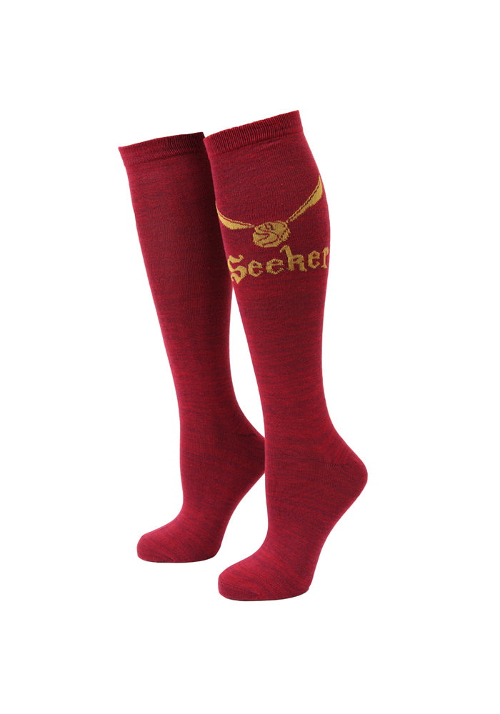 HARRY POTTER Quidditch Golden Snitch Seeker Women's Knee High Socks