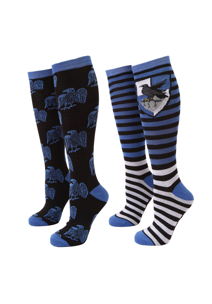 HARRY POTTER Ravenclaw Bird Two-Tone Women's Knee High Socks 2-Pack